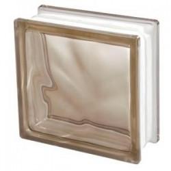 BROWN 1919/8 Wave Pustak szklany barwiony w masie brązowy