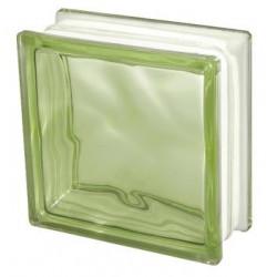 GREEN 1919/8 Wave Pustak szklany barwiony w masie zielony