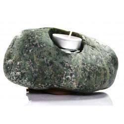 Świecznik Kamienny Zielony Tealight