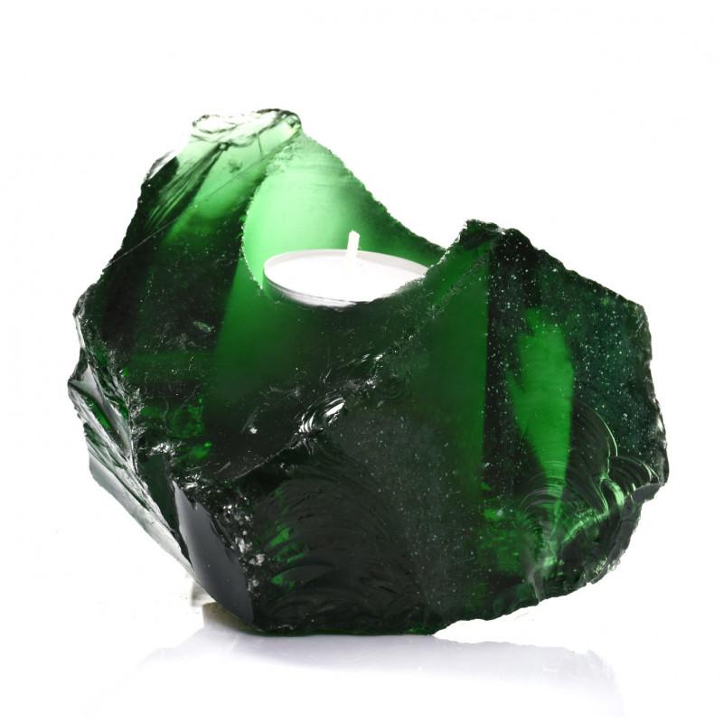 Świecznik Szklany Verde Tealight